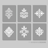 French Country Flourish Six Prints. Decor. Nursery. Home Wall