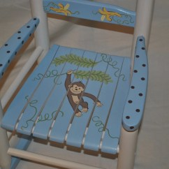 Little Rocking Chairs For Toddlers Vintage Kitchen Kids Chair Boys Monkey With Bananas Baby Shower