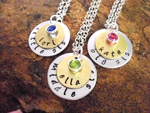 Sister Necklace Jewelry Sisters Set Little