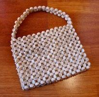 Vintage 1950s Beaded Lanza Handbag