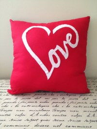 Red love pillow   Etsy