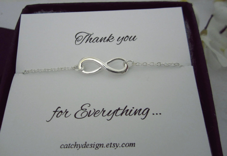 Infinity Armband danke Schmuck Armband Brautjungfer