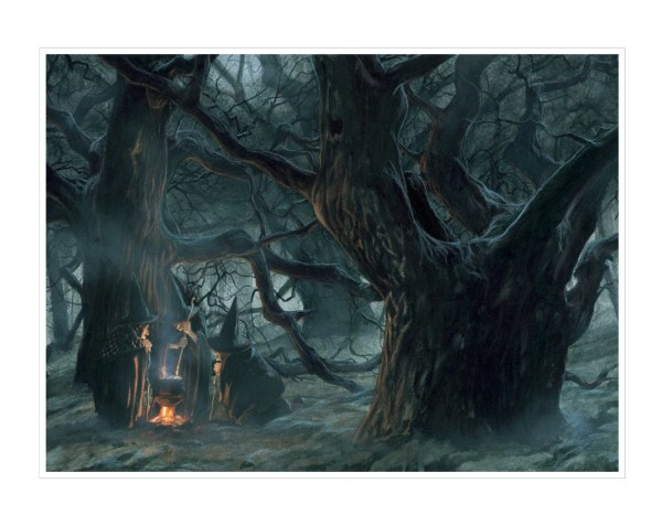 Large Fine Art Print Halloween' Witches