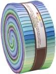 """Robert Kaufman Kona Cotton Solids SUNSET Roll Up 2.5"""" Precut Cotton Fabric Quilting Strips Jelly RU-263-43"""