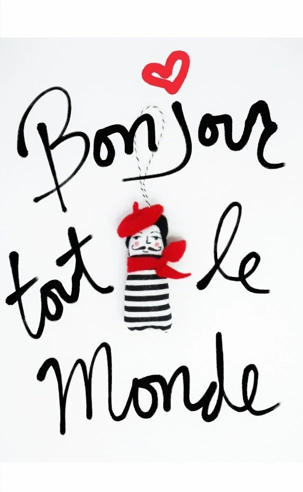 Items similar to French Mime Ornament on Etsy