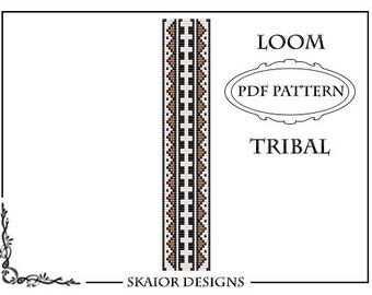 Bead Loom Pattern Tribal Ethnic Seed Bead Pattern Native