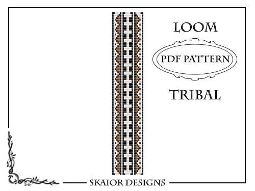 Articoli simili a Loom Pattern Loom Bead Pattern Tribal