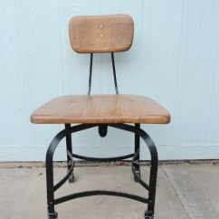 Antique Leather Chair Repair Office Stool Reviews Vintage Oak Desk Swivel Rolling