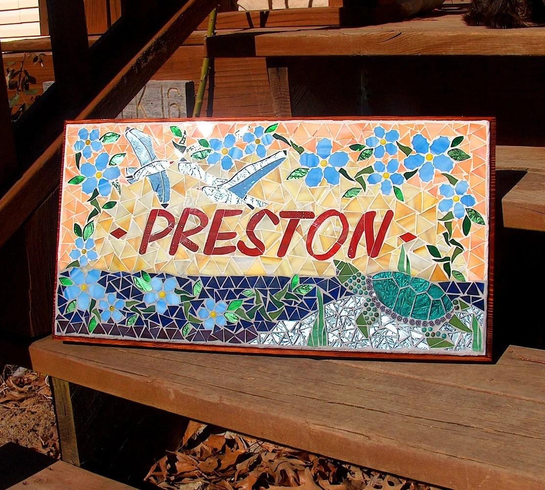 Custom Mosaic Signs  Plaques Name Or Address Wedding