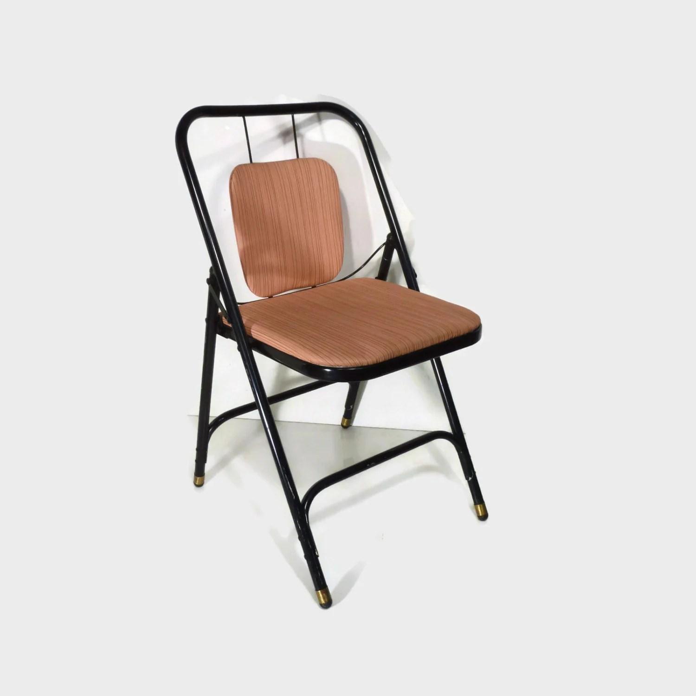 folding metal chairs green swivel chair mid century