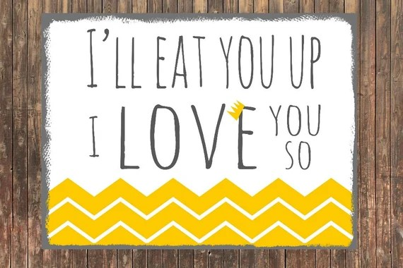 Download 8x10 CANVAS I'll Eat You Up I Love You So by SweetFaceDesign