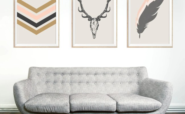 Southwestern Chic Minimalist Wall Art Print Deer By