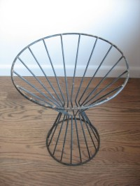 Mid Century Wire Plant Stand Side Table Cone Shaped Table