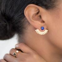 Lapis Ear Wings Ear Jackets Ear Cuffs Gold Ear by ...