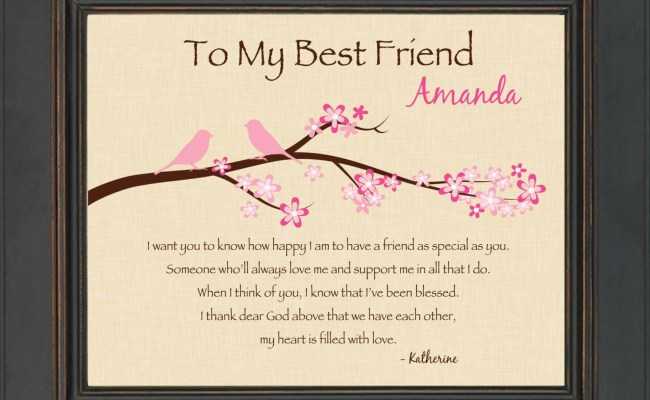 Best Friend Gift Personalized Print For Best Friend 8x10