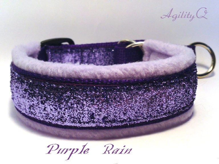 SOFT Bling Fancy Martingale Dog Collar Or Clip Custom By