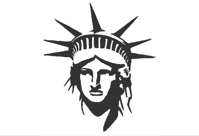 Lady Liberty Machine Embroidery Design from OCDEmbroidery