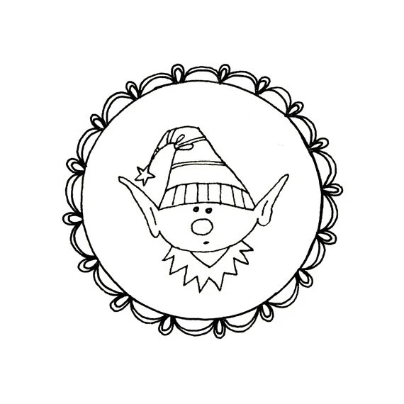 Christmas Elf Gnome Embroidery Pattern Digital Downloadable