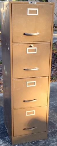 Mid Century Acorn Products Company Steel File Cabinet ...