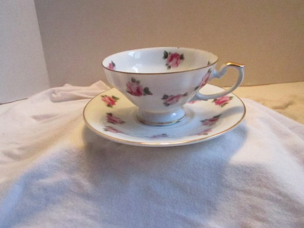 Cherry China Cup And Saucer In Japan