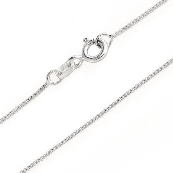 925 Sterling Silver Italian Box Chain Necklace by