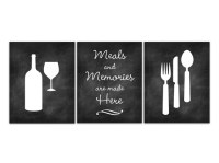 Home Decor Wall Art Chalkboard Kitchen CANVAS Art Fork and