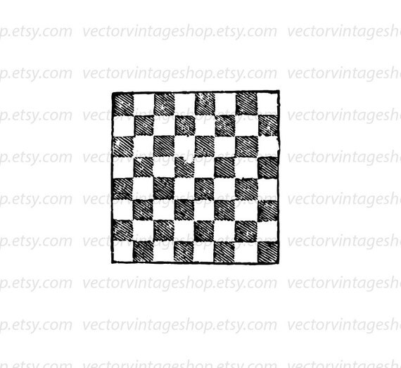 Checkerboard Vector Clipart Commercial Use Instant