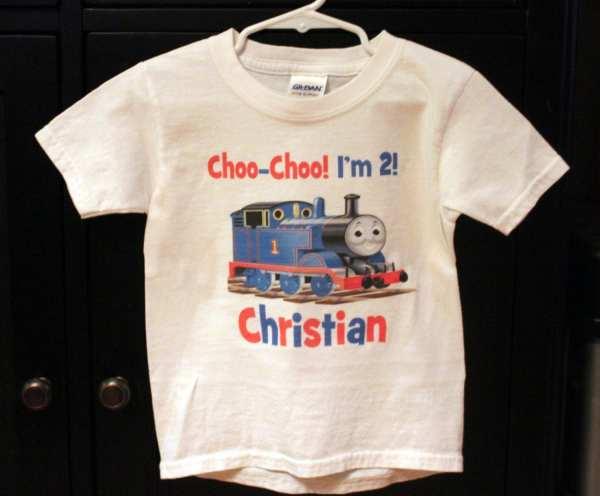 Thomas Train Personalized Birthday Shirt