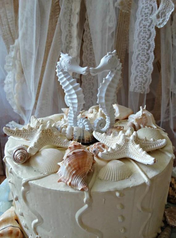 Seahorse Wedding Cake TopperCoral Seahorse cake