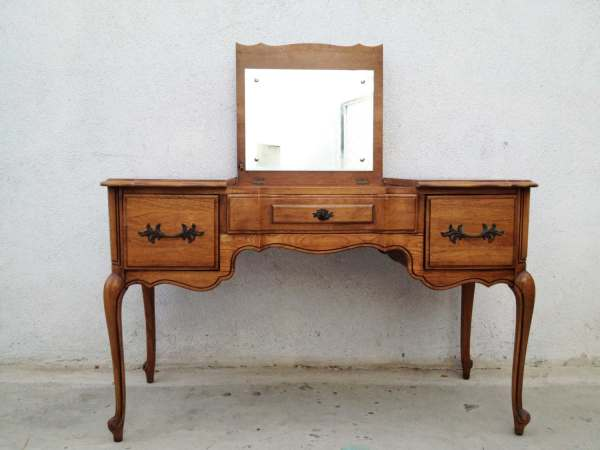 French Provincial Vanity Mid Century Make Table