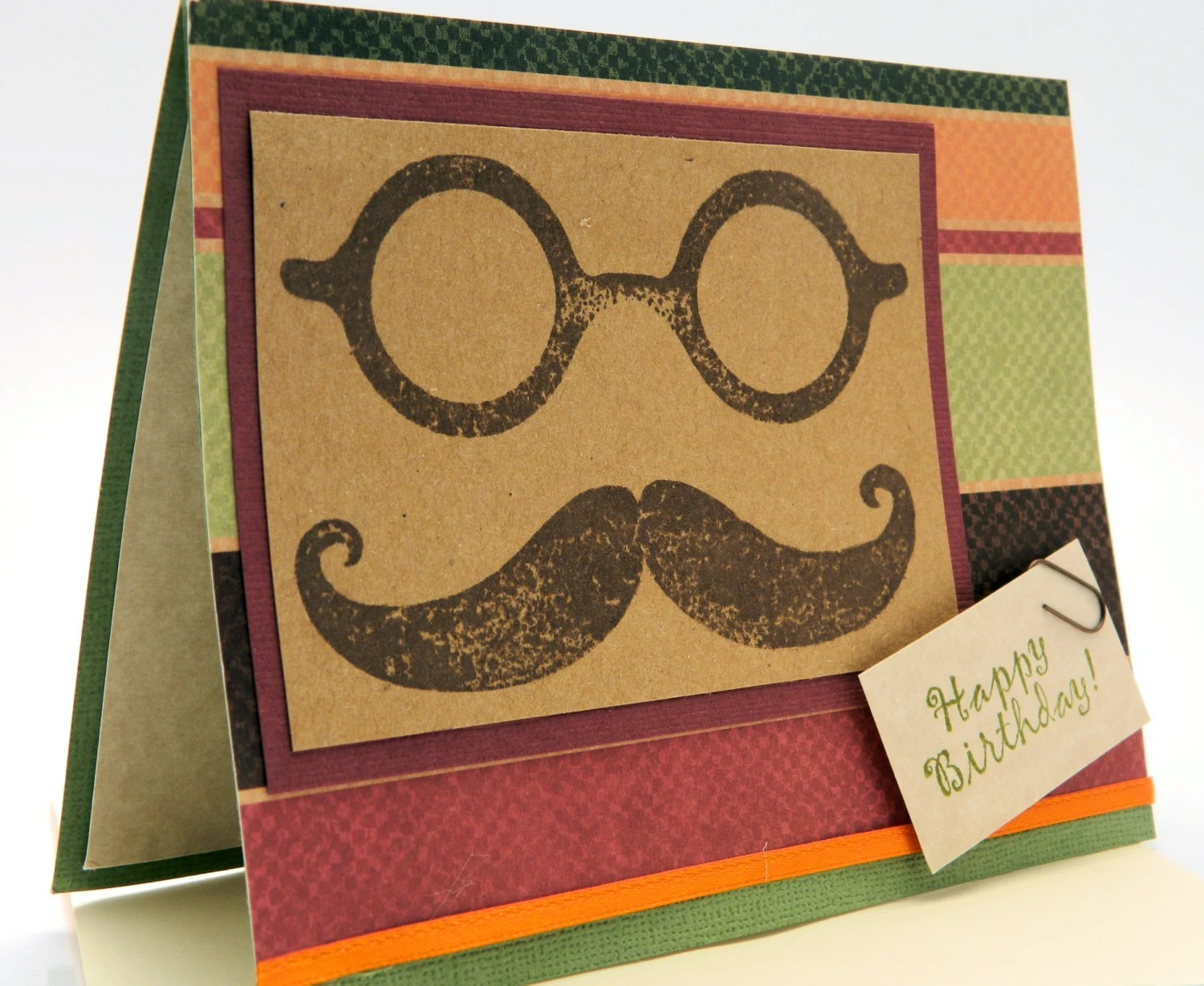My Daddy's Moustache Birthday Greeting Card