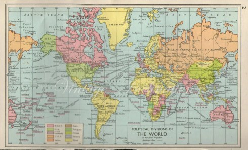 Image result for images of world map 1960