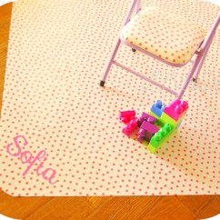 High Chair Splat Mat Used Brookstone Massage Oilcloth With Monogram Choose Your By