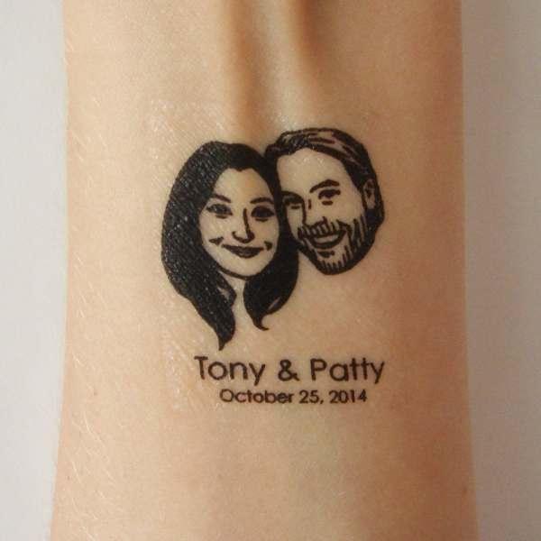 temporary tattoos custom couple