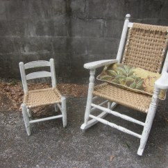 Woven Rocking Chair Bedroom Revit Antique With Jute Seat By