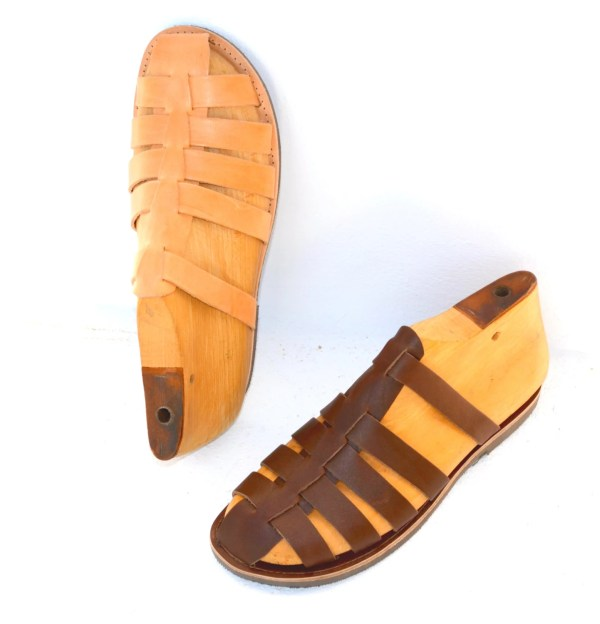 Greek Handmade Roman Leather Sandals Men Style