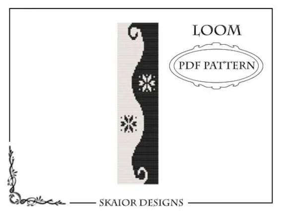 Items similar to Two Tone Loom Bead Pattern Yin Yang