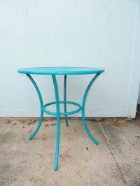 Vintage Table Metal Round Patio Side End Table Mid Century