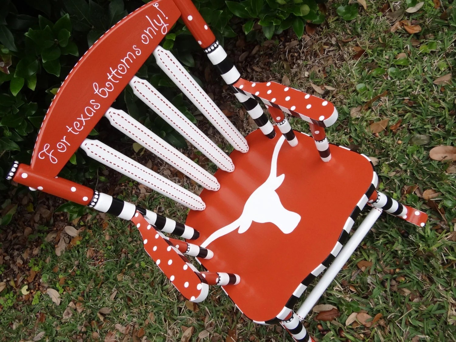 custom rocking chairs texas outdoor wicker chair and ottoman set personalized kids 39 longhorn university by