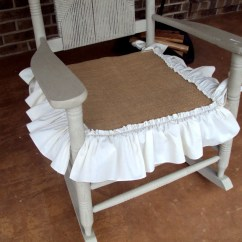 Burlap Chair Covers For Folding Chairs Bent Plywood Rustic Nursery Porch Rocker Rocking Seat Slip