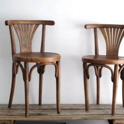 French Bentwood Cafe Chairs Steel Easy Chair Reserved Vintage Two Wooden By Snapshotvintage