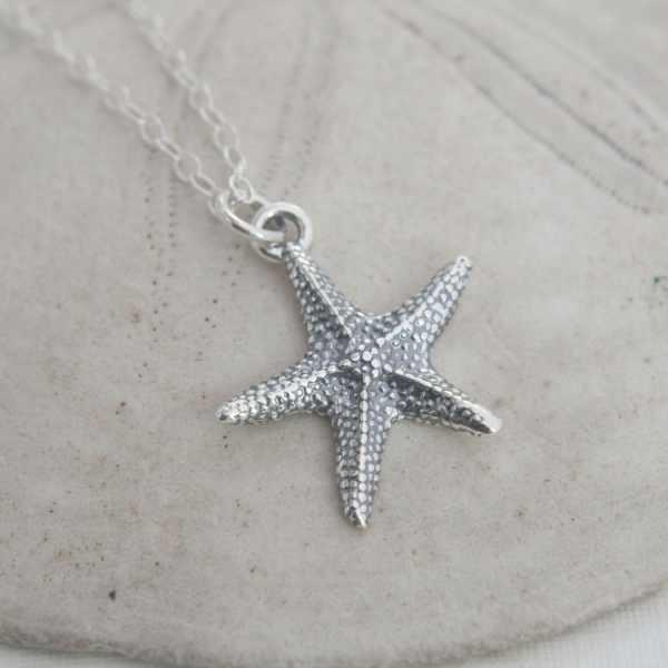 Silver Starfish Necklace Jewelry Wanderingtulip