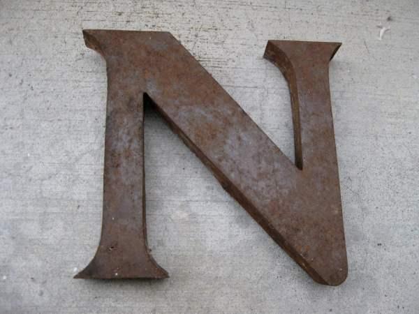 Vintage Metal Letter Wall Decor