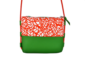 faux leather bag, crossbody bag, messenger bag, small bag, red green bag, everyday bag - GALEL