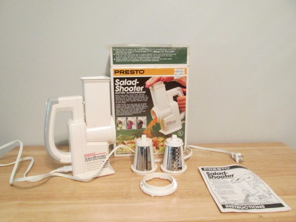 Vintage Presto Salad-shooter Slicer Shredder