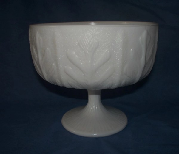 Ftd Milk Glass Compote Pedestal Bowl Crochetncollectibles