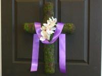 spring wreath Easter wreath cross wreaths front door