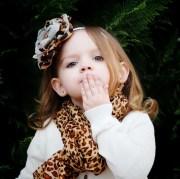 cheetah headband baby girl hair