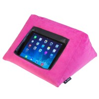 iPad Cushion Pillow Stand Holder. iCushion Velvet PINK