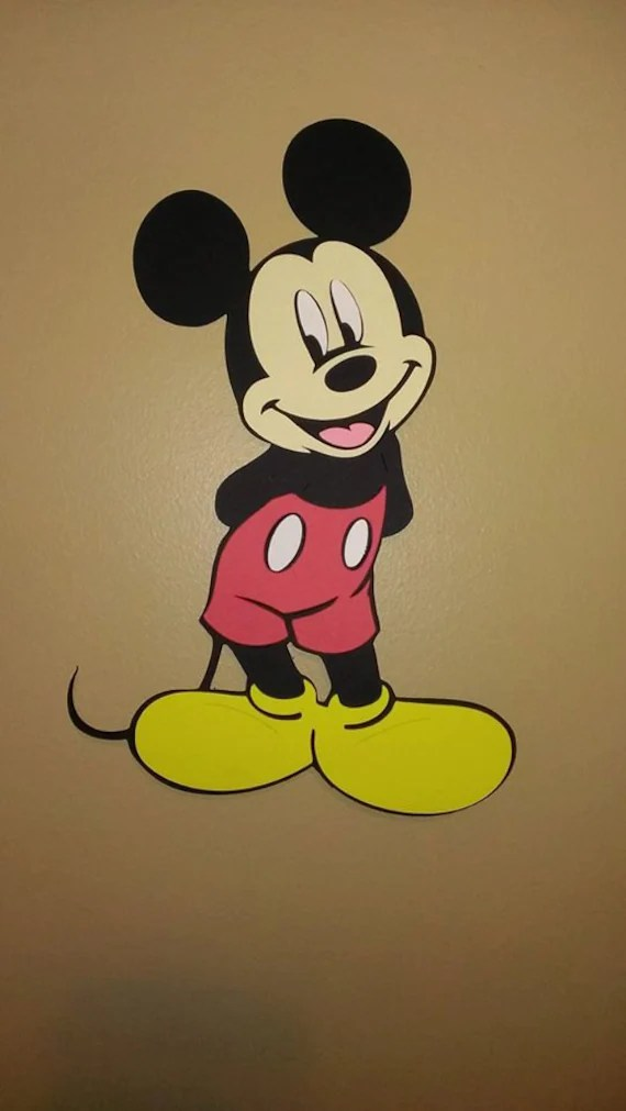 10 Minnie Mouse Mickey Mouse Cutout Birthday Party Wall